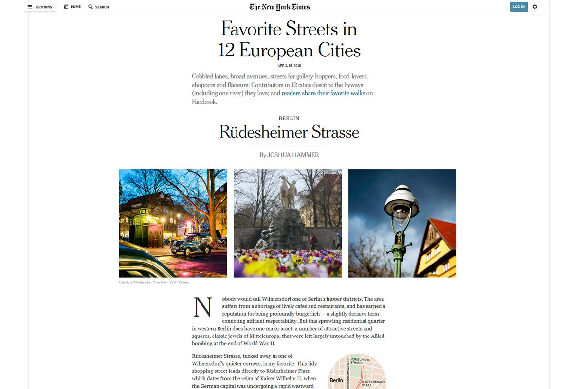 New York Times: Rüdesheimer Strasse named